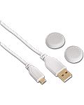 USB Charging Cable Soft -White- (Hama) (Playstation 4)