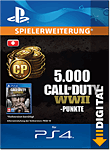 Call of Duty: WWII - 5'000 Call of Duty Points (Playstation 4-Digital)