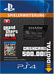Grand Theft Auto 5: Bull Shark 500'000 Cash Card (Playstation 4-Digital)