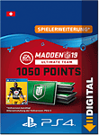 Madden NFL 19 Ultimate Team: 1050 Madden Points (Playstation 4-Digital)