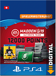 Madden NFL 19 Ultimate Team: 12000 Madden Points (Playstation 4-Digital)
