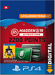 Madden NFL 19 Ultimate Team: 2200 Madden Points (Playstation 4-Digital)