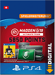 Madden NFL 19 Ultimate Team: 5850 Madden Points (Playstation 4-Digital)