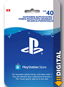 Playstation Store Guthaben CHF 40.-- (Sony) (Playstation 4-Digital)