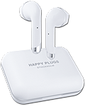 Air 1 Plus True Wireless Earbud Headphones -White- (Happy Plugs)