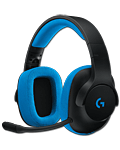 G233 Prodigy Wired Gaming Headset -Black/Cyan- (PC)