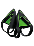 Kitty Ears for Kraken - Green (Razer)