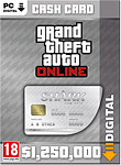 Grand Theft Auto 5: Great White Shark 1'250'000 Cash Card (PC Games-Digital)
