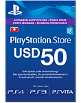 Playstation Network Card US$ 50.-- -FÜR US STORE- (Sony)