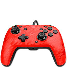 Controller Faceoff Deluxe Audio V2 -Neon Red- (PDP)