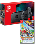 Nintendo Switch (2019) - Paper Mario Set -Grey-