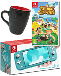 Nintendo Switch Lite - Animal Crossing Set -Turquoise- (inkl. Spiel & Switch Tasse)