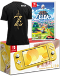Nintendo Switch Lite - Zelda: Link's Awakening Set -Yellow- (inkl. Spiel & Breath of the Wild T-Shirt XL)