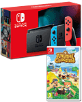 Nintendo Switch (2019) - Animal Crossing Set -Red/Blue-