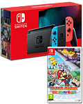 Nintendo Switch (2019) - Paper Mario Set -Red/Blue-