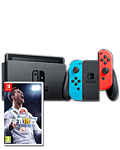 Nintendo Switch - FIFA 18 Set -Red/Blue-
