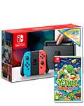 Nintendo Switch - Yoshi & eShop Voucher Set -Red/Blue-
