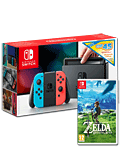Nintendo Switch - Zelda: BotW & eShop Voucher Set -Red/Blue-