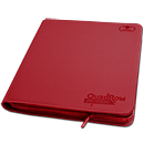 12-Pocket QuadRow ZipFolio -Red-