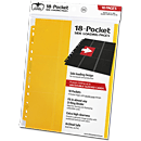 18-Pocket Side-Loading Pages (10 Pages) -Yellow-