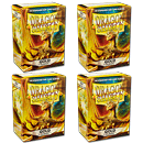 Dragon Shield Card Sleeves Standard -Gold- 4er Set (400)