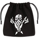 Dice Bag Dwarven -Black/White-