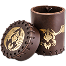 Dice Cup Flying Dragon -Brown/Gold-