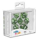 Dice RPG-Set Marble - Green (Set of 7 Dice)