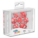 Dice RPG-Set Marble - Red (Set of 7 Dice)