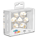 Dice RPG-Set Marble - White (Set of 7 Dice)