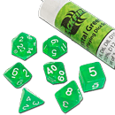 Dice Set Crystal - Green (Set of 7 16mm Dice)