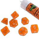 Dice Set Crystal - Orange (Set of 7 16mm Dice)