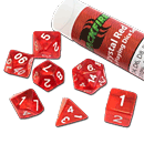 Dice Set Crystal - Red (Set of 7 16mm Dice)