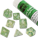 Dice Set Magic - Green (Set of 7 16mm Dice)