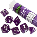 Dice Set Magic - Purple (Set of 7 16mm Dice)