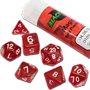 Dice Set Magic - Red (Set of 7 16mm Dice)