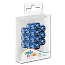 Dice D6 Positive & Negative Marble / Gemidice - Blue (Set of 14 Dice)