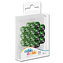 Dice D6 Positive & Negative Marble / Gemidice - Green (Set of 14 Dice)