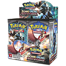 Pokémon Sonne und Mond: Nacht in Flammen Booster Display