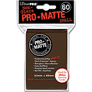 Card Sleeves Small Pro-Matte -Brown-