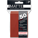 Card Sleeves Standard Pro-Matte -Red-