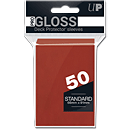 Deck Protector Sleeves Standard -red-