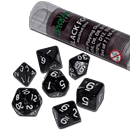 Dice Set Marbled - Black Fog (Set of 7 16mm Dice)