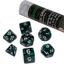 Dice Set Marbled - Mystic Green (Set of 7 16mm Dice)
