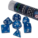 Dice Set Marbled - Ocean Blue (Set of 7 16mm Dice)