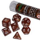 Dice Set Marbled - Wild Brown (Set of 7 16mm Dice)