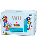 Nintendo Wii Mario & Sonic Bundle, blau (inkl. Mario & Sonic at the London 2012 Olympic Games)