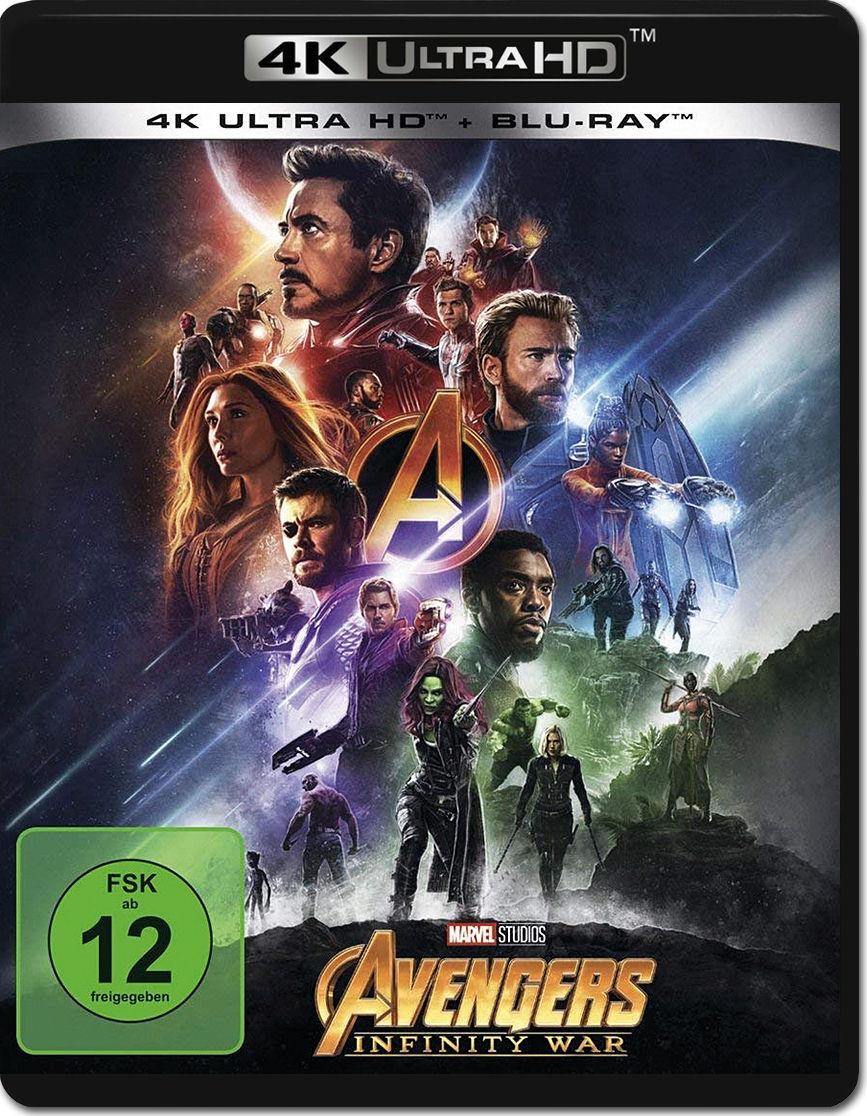 Avengers Infinity War Blu Ray Uhd 2 Discs 4k Ultra Hd Filme