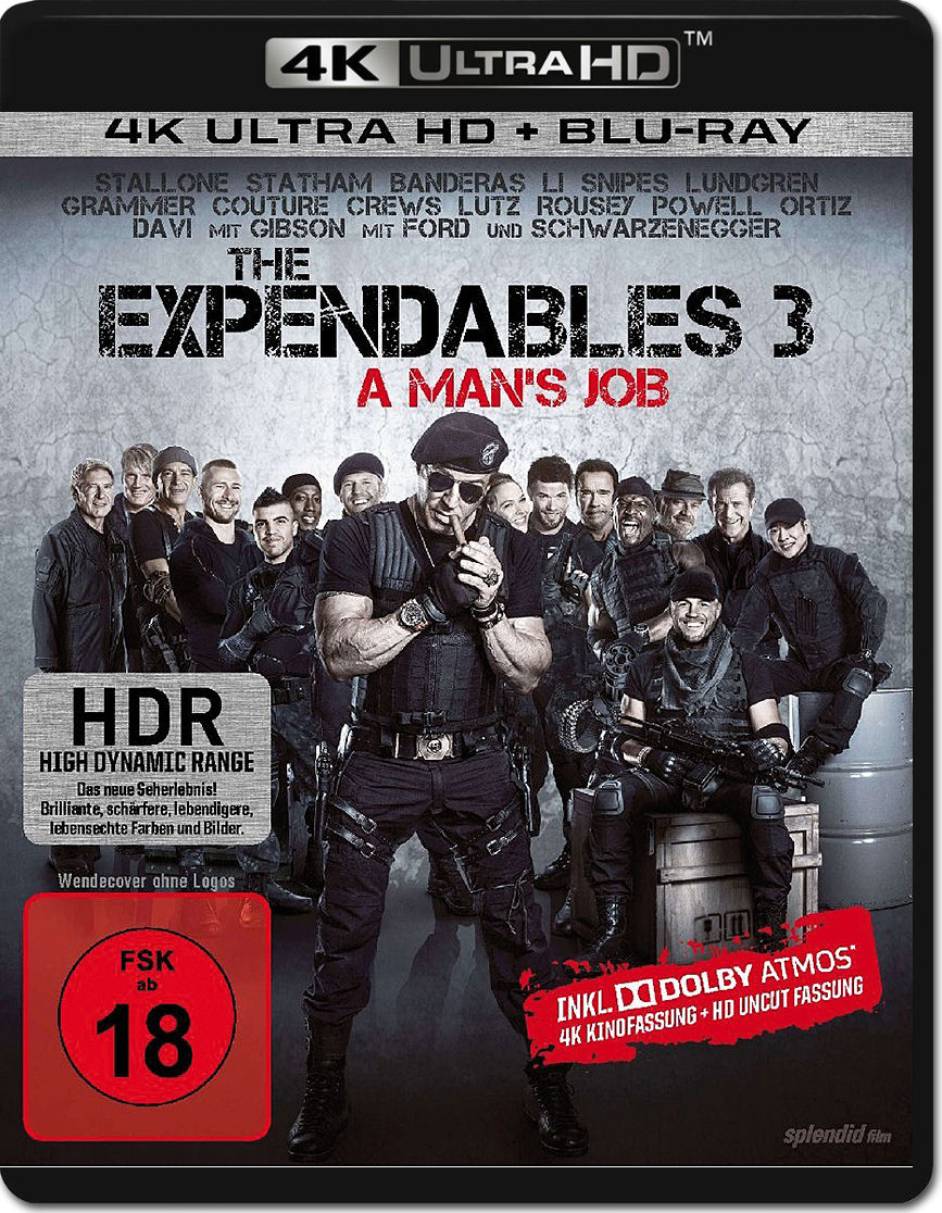 the expendables 3 bluray uhd 2 discs 4k ultra hd filme