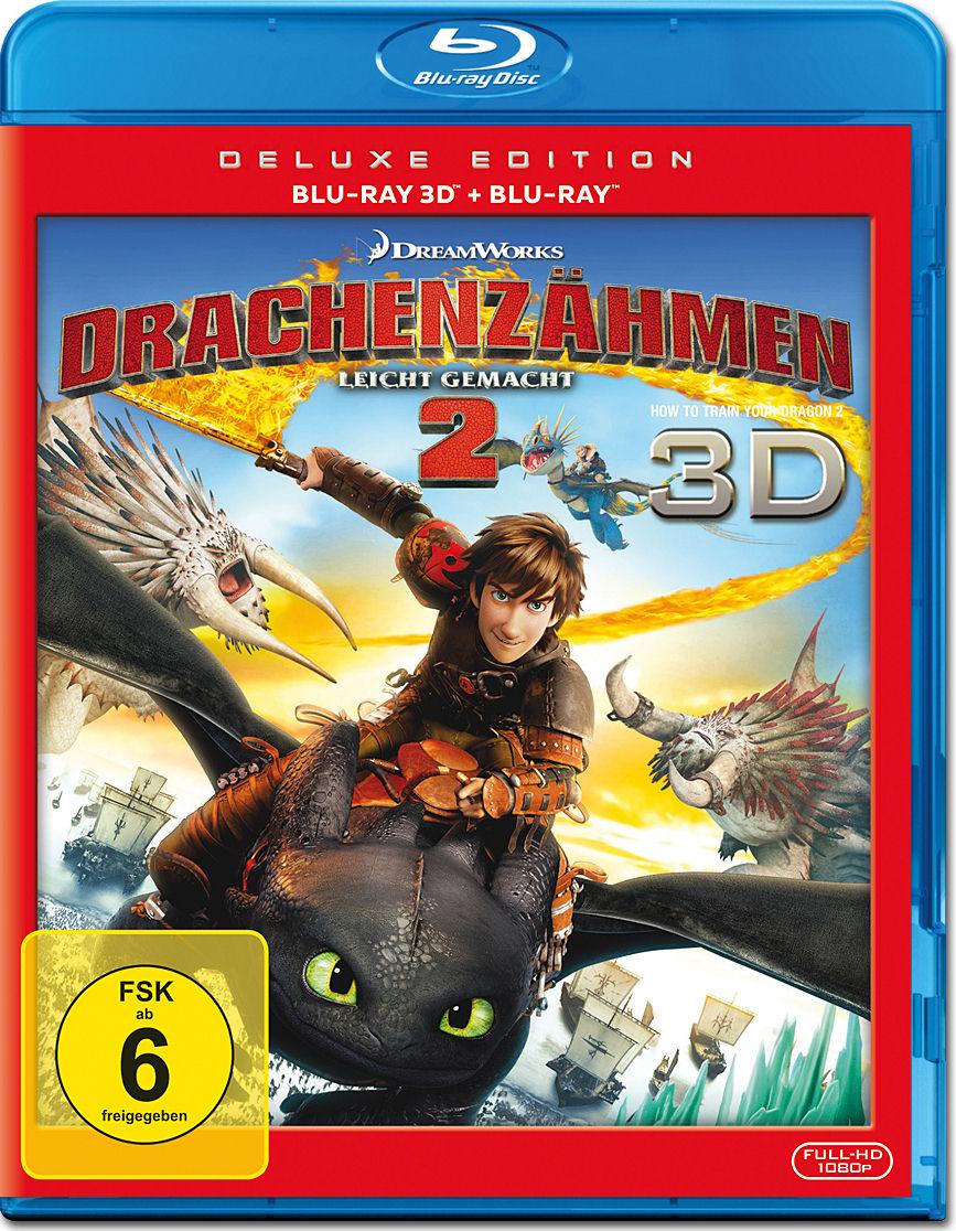 Drachenzähmen leicht gemacht 2 - Deluxe Edition Blu-ray 3D (3 Discs ...